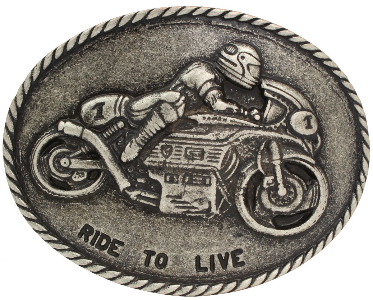 Buckle Gürtelschließe Motorrad Biker Gürtelschnalle retro