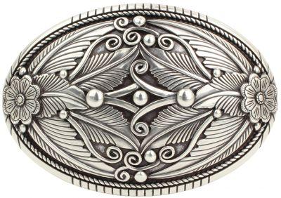 Brazil Lederwaren G/ürtelschlie/ße Split Skull 4,0 cm